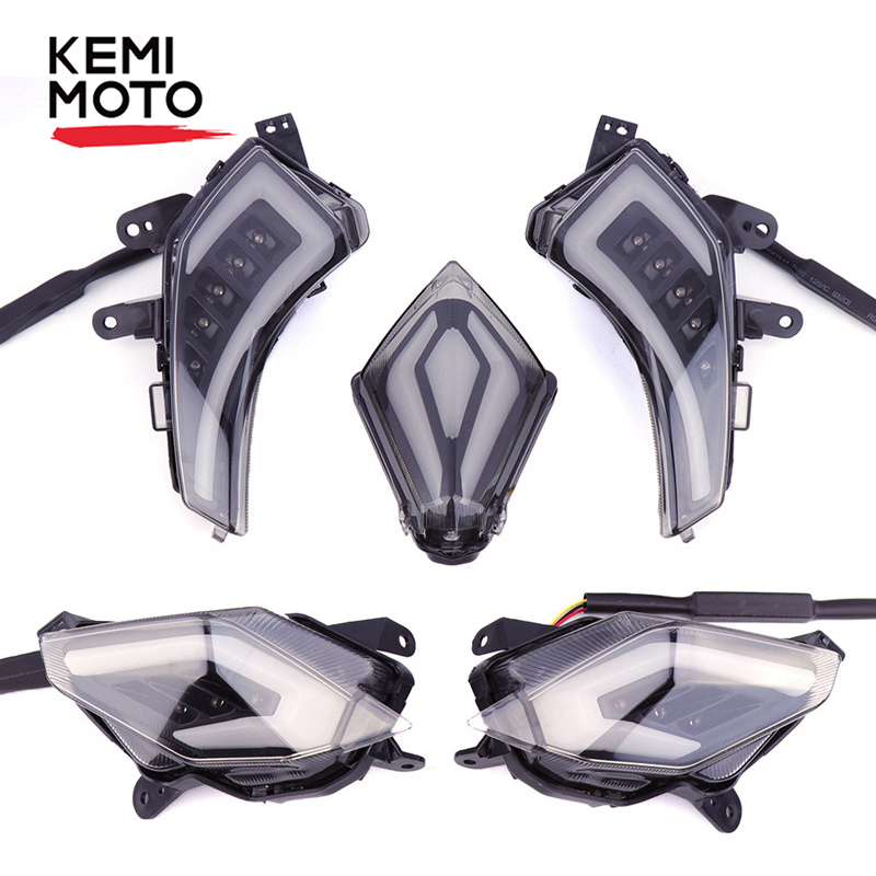 KEMiMOTO Signal Light For YAMAHA Tmax 530 T-Max530 TMAX530 T-Max 530 2012-2016 Rear Tail Brake Light LED Turn Signal Taillight