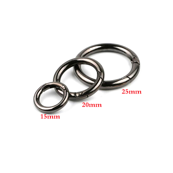 6pcs 25mm Gate Spring O-Ring Buckles Clips EDC Carabiner Push Trigger Snap Hooks