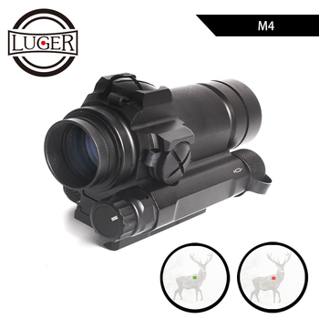 LUGER M4 Red Dot Sight For 20mm Rail Rifle Airsoft Tactical Red Dot Scope Outdoor Hunting Optics Sight Riflescope