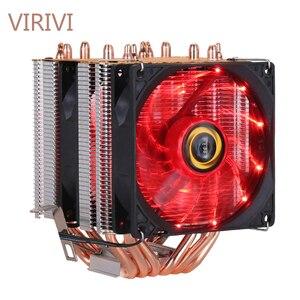 Кулер для процессора, комплект теплоотвода, высокое качество, 6 тепловых трубок, двухбашенное охлаждение, 9 см, вентилятор RGB с поддержкой 3 ве...