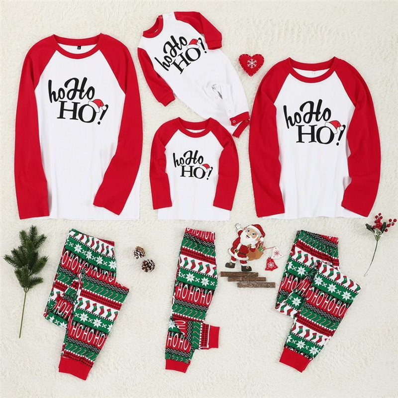 YELITE Family Christmas Pajamas Suit 2019 Deer Print Mother Father Kids Sleepwears Parent-child Clothes Family Matching Outfits