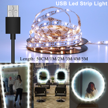 LED Strip USB Tape Flexible Diode DC 5V Indoor 50CM 1M 2M 3M 4M 5M Christmas Led strip Light Backlight for TV 2835 Home