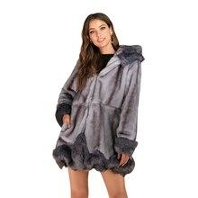 2019 Winter Women Plus Size Faux Fur Coat Long Slim Thicken Warm Hairy Jacket Trendy Warm Outerwear Faux Fur Coat Trenchcoat 6xl