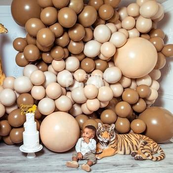 10pcs Coffee Caramel Latex Balloons 18/10/5 Inch Wedding Birthday Arch Decoration Globos Party Supplies
