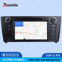 IPS DSP 4GB RAM 64G Qcta Core 1 Din Android 9.0 Car Radio DVD For BMW 1 Series E88 E82 E81 I20 GPS Navigation Multimedia stereo
