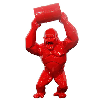 180cm Monkey King Kong Home Decoration Gorilla Sculpture Wild Statue Boys Present Customized products