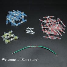 цена на Heat Shrink Insulated Waterproof Solder Electrical Butt Splice  Sleeve Butt  Connectors Wire Terminals Kit