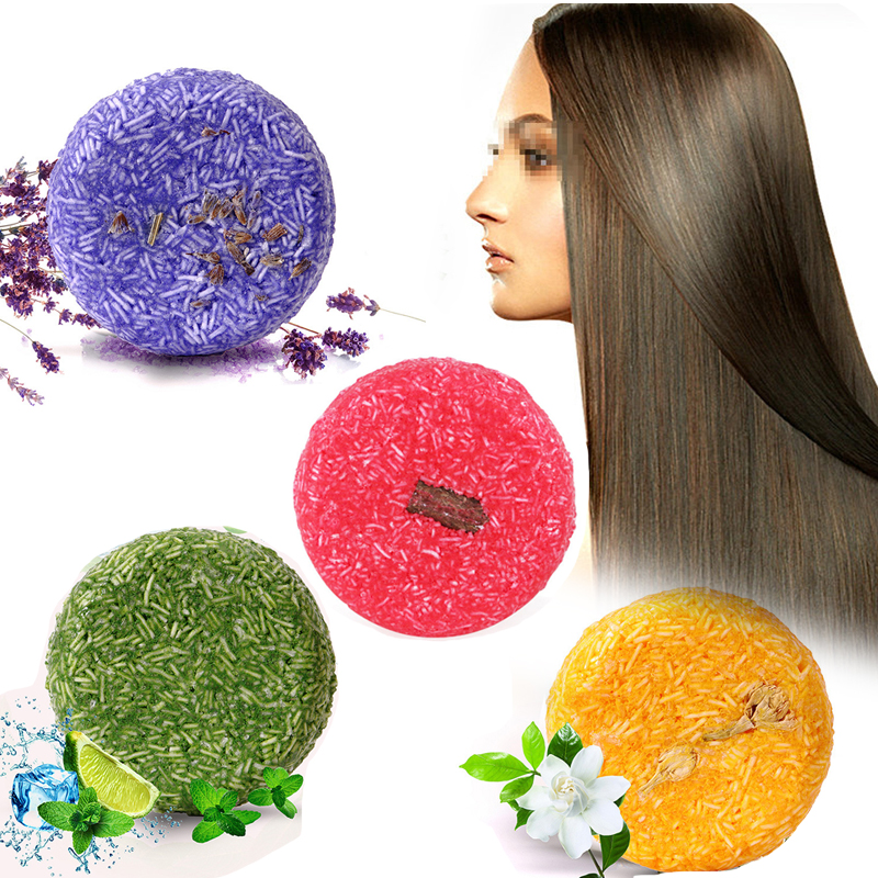 Natural Hair Shampoo Soap Rose/Lavender/Mint/Jasmine Essence Soap Handmade Soap Anti-Dandruff Hair Shampoos Nourishing Hair Care