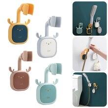 Shower Head Holder Cute Adjustable Self Adhesive Nail Free Shower Head Storage Bracket Wall Mount Holder Bathroom Accessories