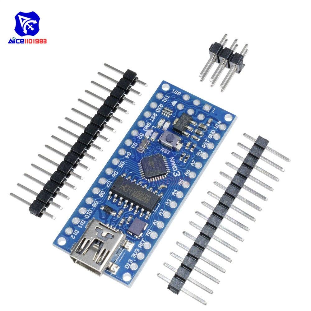 Diymore Nano V3.0 ATmega168 CH340 CH340G мини USB микроконтроллер модуль макетная плата для Arduino