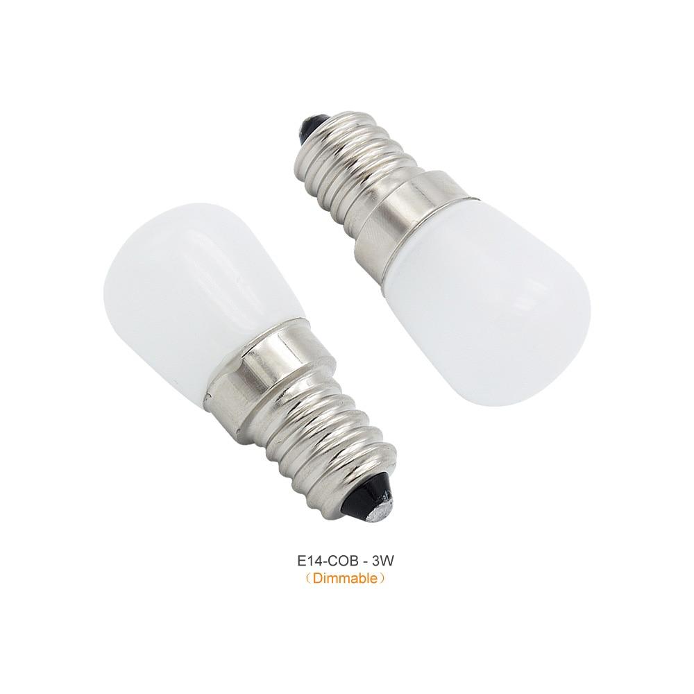 1pcs AC 220V 6W 8W Light Spotlight Light E14 LED Mini Lamp 2W 3W 4W Bulbs Freezer Fridge Chandelier COB Glass