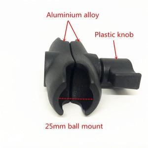 Image 2 - Jadkinstaอลูมิเนียม1นิ้วMount Double Socket Arm Extension Moto MountสำหรับGopro Gamin GPSสมาร์ทโฟนผู้ถือรถจักรยานยนต์