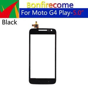 Image 1 - 10 sztuk dużo dla Motorola Moto G4 Play XT1601 XT1602 XT1603 XT1604 ekran dotykowy Digitizer przedni szklany panel wymienny czujnik