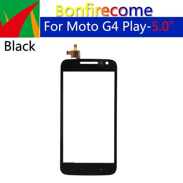 10 sztuk dużo dla Motorola Moto G4 Play XT1601 XT1602 XT1603 XT1604 ekran dotykowy Digitizer przedni szklany panel wymienny czujnik