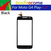 10Pcs \ lot For موتورولا موتو G4 Play XT1601 XT1602 XT1603 XT1604 محول الأرقام بشاشة تعمل بلمس اللوحة الزجاجية الأمامية قطعة بديلة لمستشعر