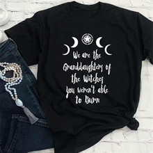 We Are The Granddaughters of The Witches Women Gothic Witchcraft Black T-Shirt Halloween Gift For La
