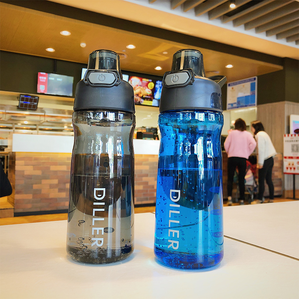 He93fb9972e38460f9b35d7ba6d78cf53B DILLER Water Bottle Popular Gray Men Outdoor Sport Travel My Drink Bottle Portable Leakproof Plastic Milk fruit gym Bottles