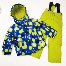 Kids Ski Suit Children Brands Waterproof Warm Girls And Boy Snow Jacket And Pants Winter Skiing And Snowboarding Clothes Child cheap Boys Polyester Hooded Q320 Fits true to size take your normal size Jackets Anti-Wrinkle Windproof