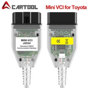 Image 1 - MINI interfaz VCI compatible con TOYOTA TIS Techstream J2534 OBD2, Cable de conexión de diagnóstico OBD de 22 pines a 16 Pines, V13.00.022
