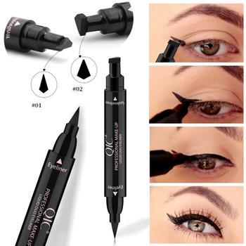 2 In1 Winged Stamp Liquid Eyeliner Pencil Eyes Makeup Waterproof Fast Dry Lasting Cosmetics Black Stamps Seal Eyeliner Pen TSLM1 1