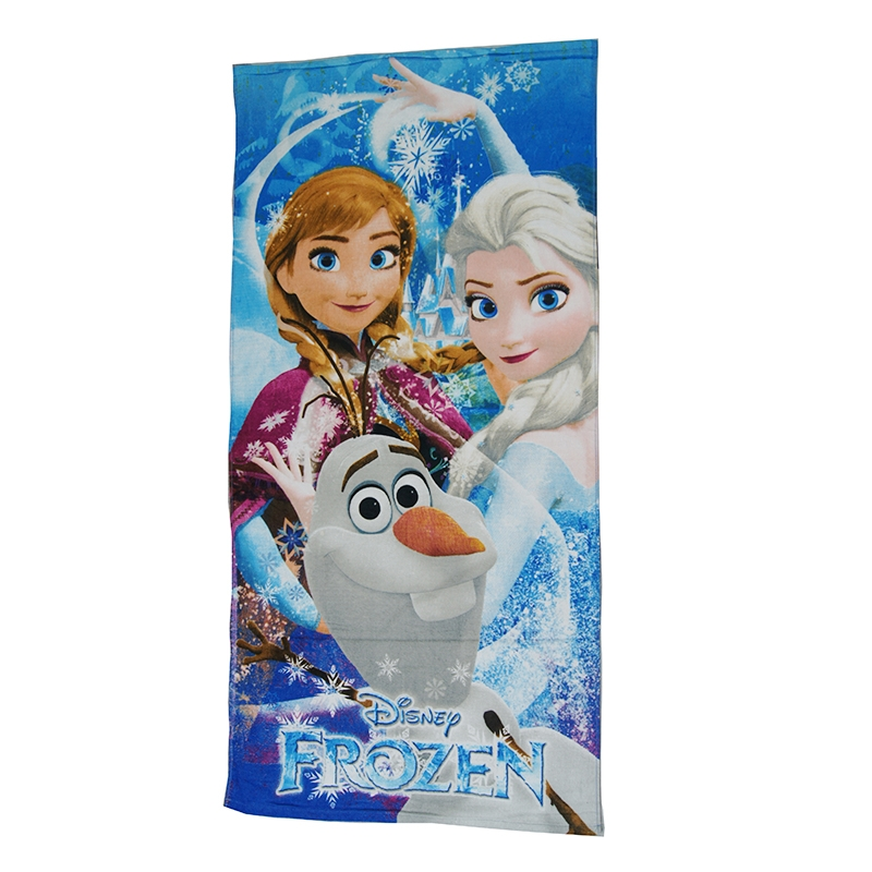 Disney Frozen Elsa Anna Princess Cinderella Belle Beach/Bath Towel For Baby Girls Kids 100% Cotton 70x140cm