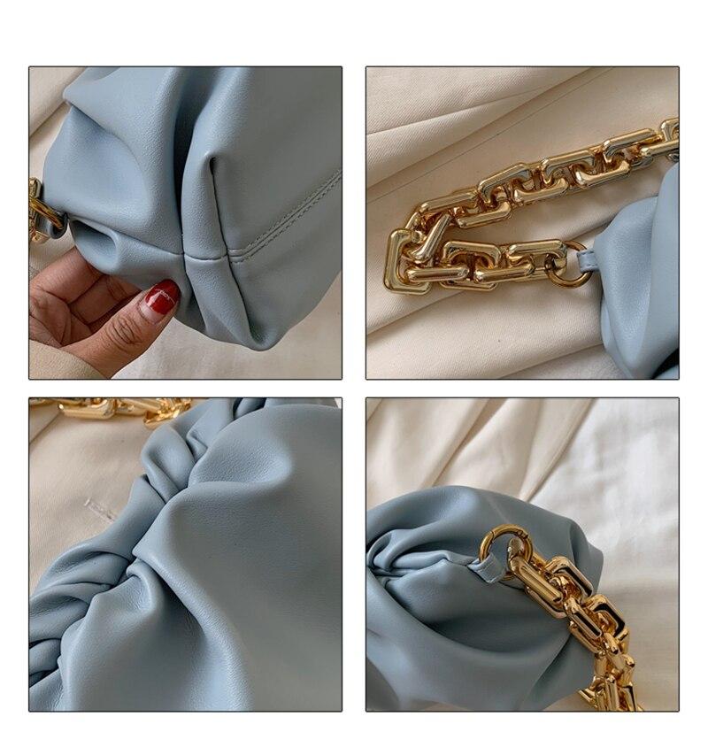 """Sac à main Souple et Luxe avec chaîne métalique or – """" Clara """""""