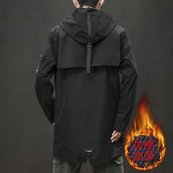 Men's windbreaker 2019 autumn winter new style slim long windbreaker jacket loose casual fashion personality youth men's wear