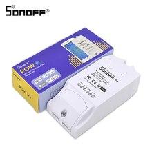 ITEAD SONOFF POW R2 15A 3500W Wifi anahtarı denetleyicisi gerçek zamanlı güç tüketimi monitörü ölçüm akıllı ev otomasyonu için