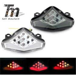 Ledowe światło hamowania tylnego włącz sygnał świetlny dla KAWASAKI ER-6N ER-6F NINJA 650R 2009 2010 2011 motocykl zintegrowany lampka migacza ER6N ER6F