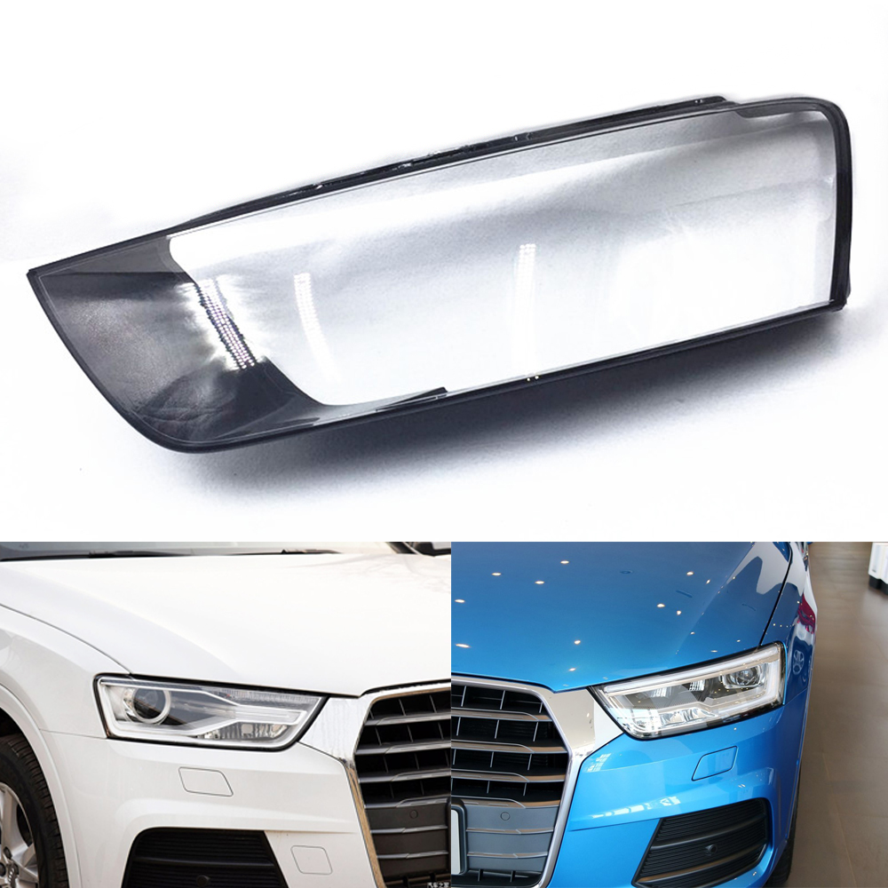 For Audi Q3 2016 2017 2018 Headlamp Cover Car Headlight Lens Replacement Clear Auto Shell Cover
