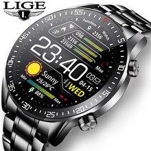 LIGE – montre connectée pour hommes, moniteur dactivité physique, de fréquence cardiaque, de pression artérielle, étanche, pour Ios et android, nouveau, 2021