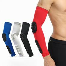 цена на 1PCS Elastic Basketball Elbow Pads Arm Sleeve Crashproof Honeycomb Elbow Support Elbow Protector Guard Sport Safety