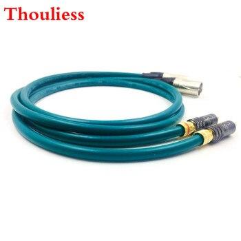 Thouliess par WBT-0144 RCA macho a 3pin XLR macho equilibrado Cable de Audio XLR a RCA Cable de interconexión con CARDAS Cruz EE. UU.-Cable