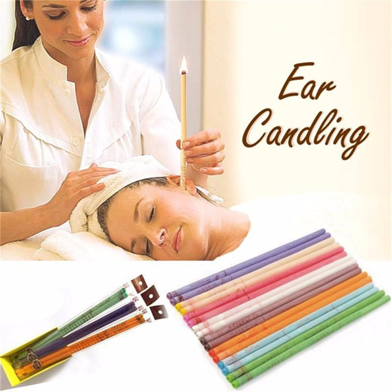 4Pcs/2pairs Ear Candles Clean Removal Natural Beeswax Propolis Indiana Therapy  Relaxation Ear Wax Treatment Health Care Tool