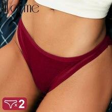 2 unids/set Sexy Lencería mujer Bragas de encaje Ropa interior Calzoncillos femeninos de algodón calzoncillos de cintura baja de malla hueco Pantys Lencería