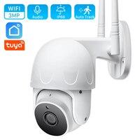 Telecamera Wifi Tuya da 3mp Smart Life Cloud 1080P monitoraggio automatico telecamera IP PTZ rilevazione movimento esterno allarme CCTV telecamera di sicurezza domestica