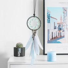 Sonhos feitos à mão catchers sinos de vento pendurado penas naturais decoração da parede pena pingente criativo decoração do quarto