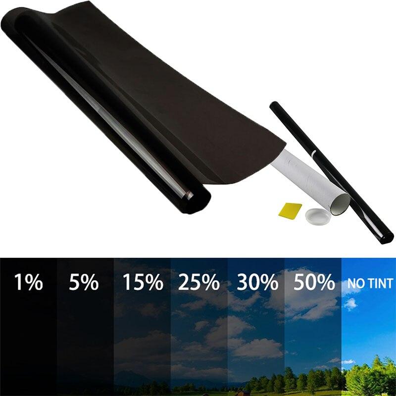 0,5 x6M 5% 15% 25% 35% 50% Auto Zubehör Auto Hause Glas Fenster Tönung Tönung Film Rolle Schaber Auto Dach fenster Tönung Film Glas