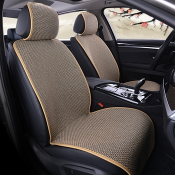 Linen Car Seat Cover Protector Flax Front or Rear Seat Back Cushion Pad Mat Backrest for Auto Interior Truck Suv Van