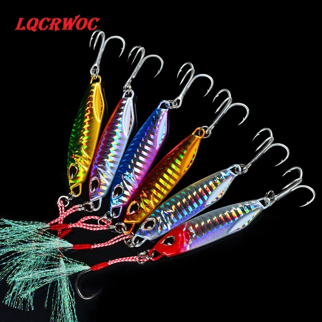 HOT NEW 10g 15g 20g 30g 40g 50g fishing jigging lure spoon spinnerbait metal bait bass tuna lures jig lead minnow pesca tackle 3