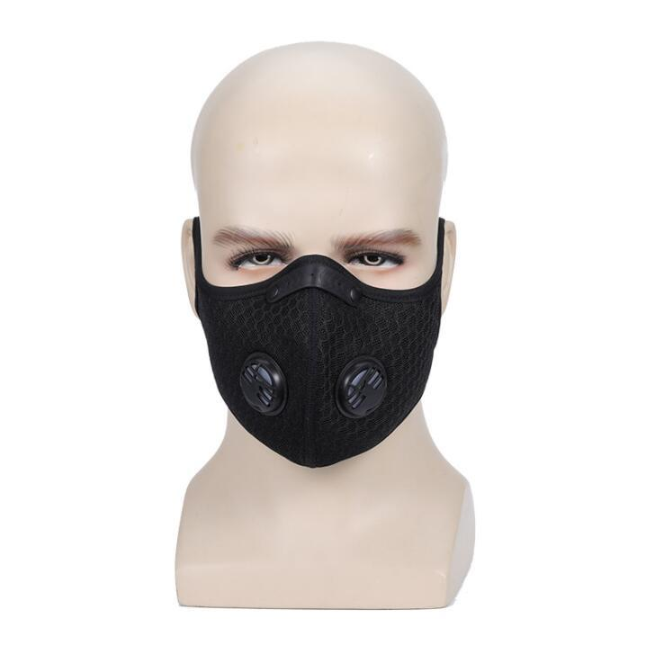 He940fdfecc16470d984053ace9e61946v Air Filter Sport Face Mask Training Bicycle Cycling Half Face Mask Bike Running Jogging Facemask Anti Pollution Mask Q1048