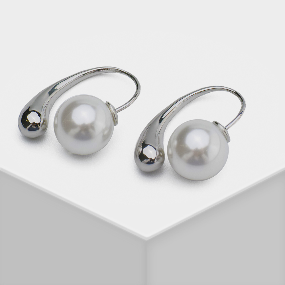 Silver with pearl