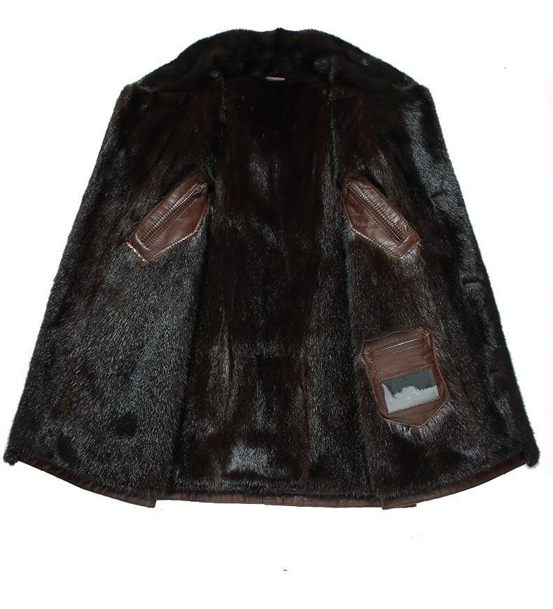 Genuine Leather Natural Mink Fur Coat Winter Jacket Men Real Goatskin Coats Luxury Men's Jackets Chaqueta Hombre MY1818