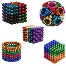 цена на 3mm 216pcs/set with Metal Box Neodymium Magnet Permanent NdFeB Strong Round Magnetic Creative Magic Neo Cube Puzzle Funny Toy