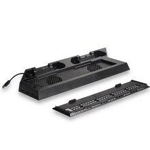Для PS4 стенд PS4 тонкий вертикальный стенд охлаждающий вентилятор с игровым контроллером двойная зарядная станция Док-станция для sony Playstation 4 Sli