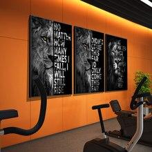 Inspirerend Citaat Art Posters En Prints Canvas Wilde Leeuw Brief Schilderen Motivatie Woord Muur Foto Voor Kantoor Home Decor