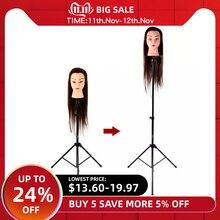 Trépied réglable Mannequin tête trépied coiffure formation support de tête Salon cheveux WigStand outil de formation de cheveux
