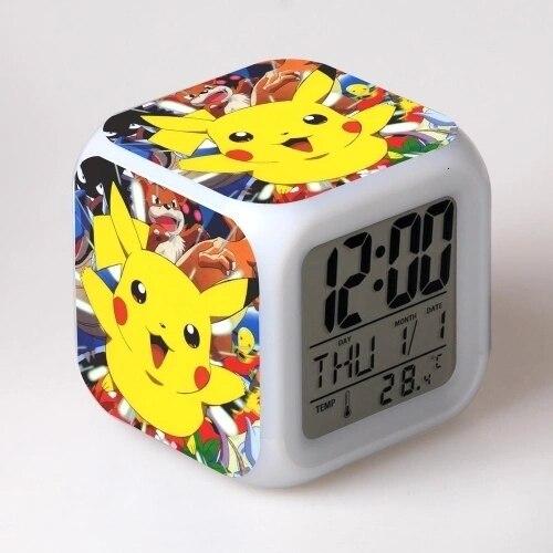 Pokemon Go Pikachu Alarm Clock LED Night Light