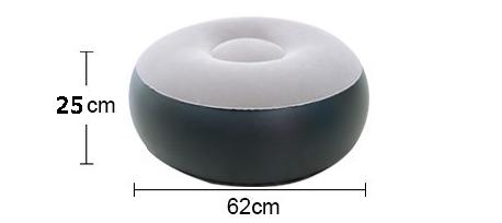 Dorosły dom na zewnątrz nadmuchiwany stołek stóp poduszka wypoczynkowa wysadzić okrągłe siedzisko powietrzne