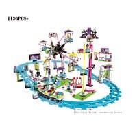 10563 chicas amigas 1124 Uds Parque de Atracciones Montaña Rusa bloques de construcción juguetes compatibles con 41130 amigos legoinglys